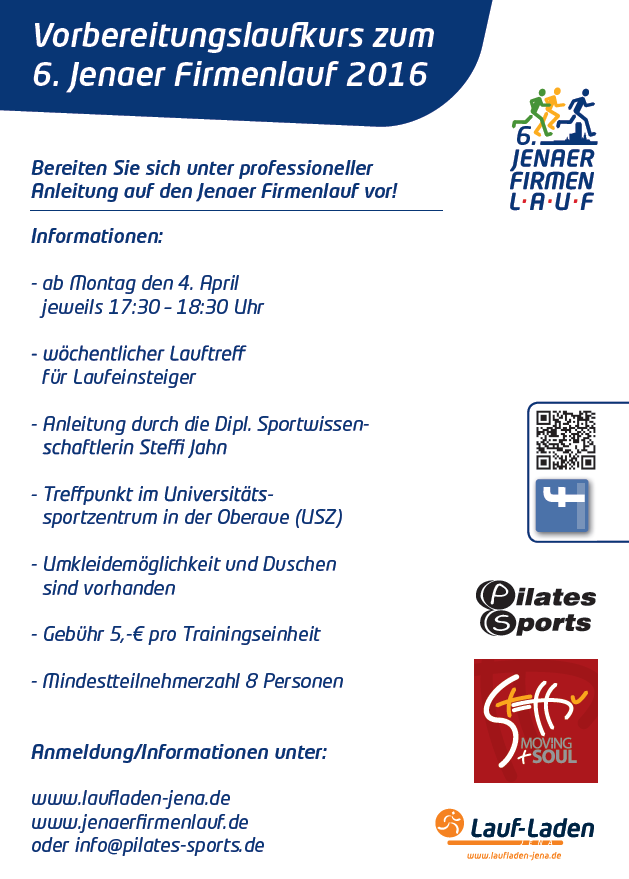 Laufkurs zum 6. Jenaer Firmenlauf 2016